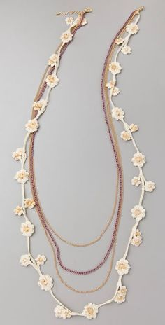 flower necklace oya lace More
