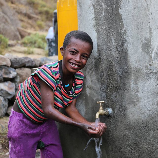 Inspire Stories:  Tigray, #Ethiopia: Haftu, 8, at the new tap in his village that was just installed last month. Safe, clean water can now help make all members of the community healthier and protect them from waterborne diseases. Photo credit: WaterAid/ Behailu Shiferaw. – @wateraid  #inspirestories
