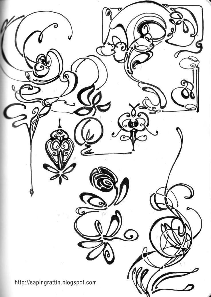 Line Drawing Tattoo Artists : Best art nouveau tattoo ideas on pinterest