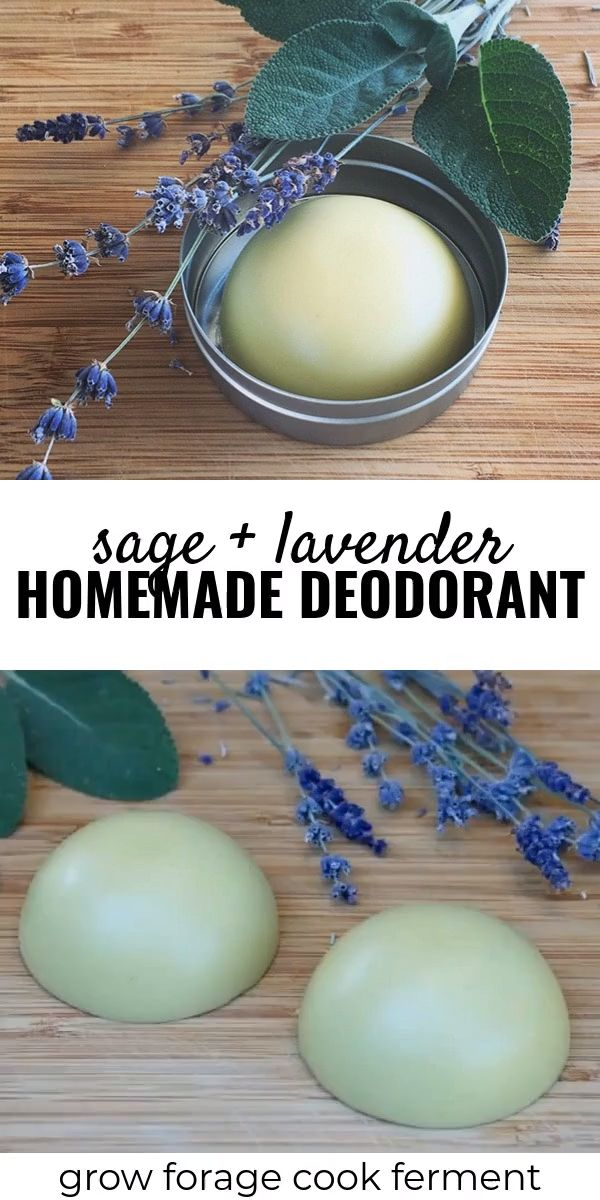 Homemade Deodorant Recipe with Lavender and Sage Homemade deodorant is easy to m… – makeup