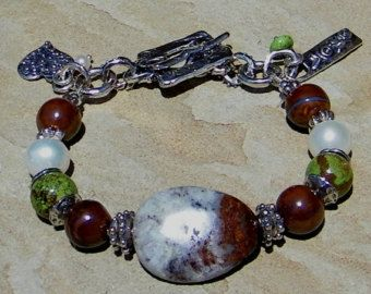 Freshwater Pearl Rhodochrosite Turquoise Handcrafted Artisan