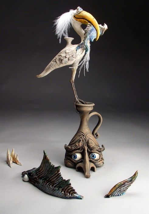 47 best ceramic sculptures by mitchell grafton images on for Ceramic fish sculpture