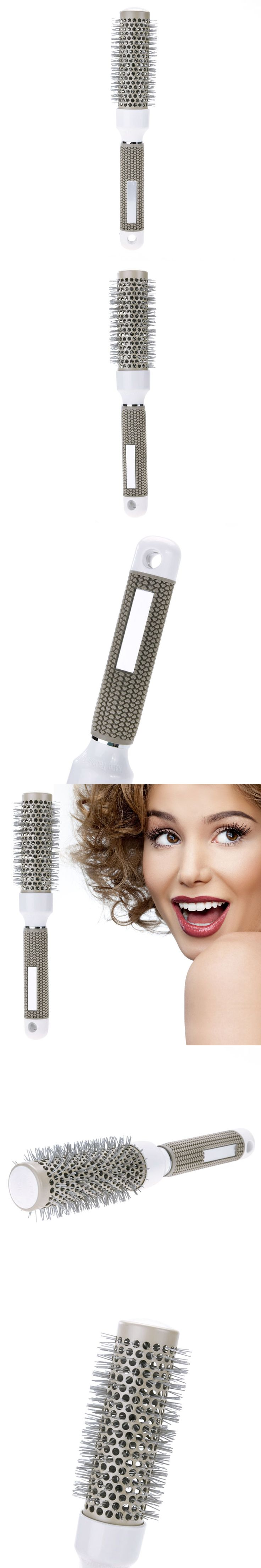 32mm  Ceramic Iron Round Comb Hair Dressing Brush Salon Styling Tool Hair Care