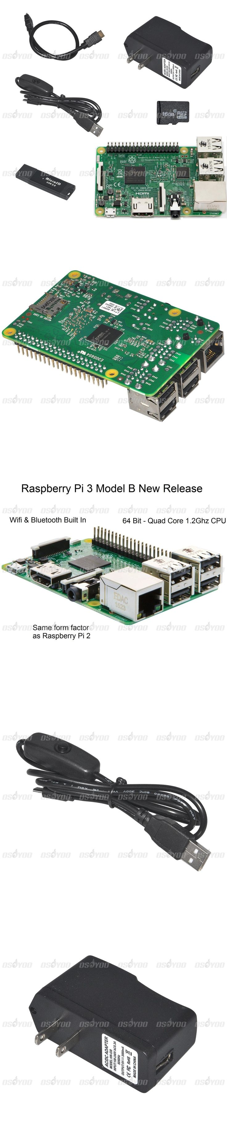 Raspberry Pi 3 Model B+HDMI cable+16GB TF Card w/ card reader+Power Cable with Switch and US Plug Kit FreeShipping&Drop Shipping