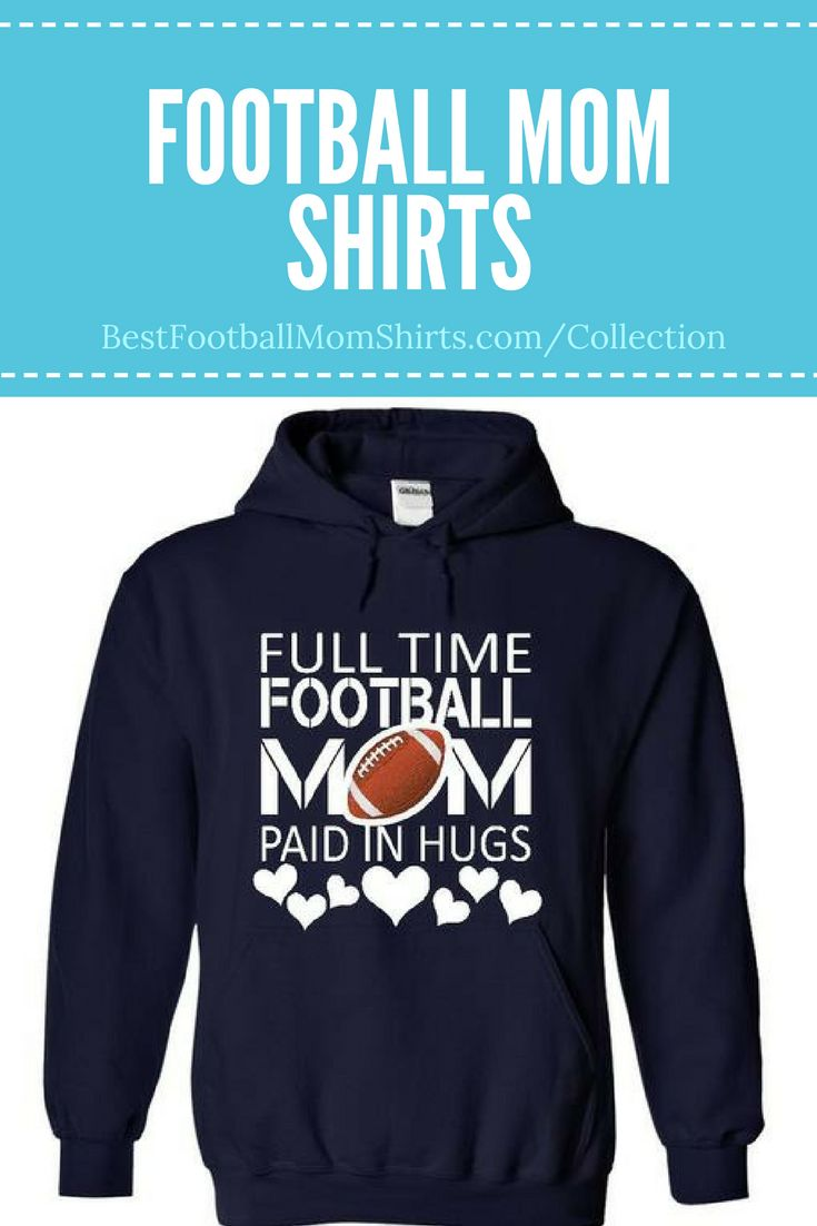 What a sweet football mom hoodie