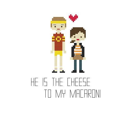 Juno and Paulie Cross Stitch by YouMakeMeSewHappy on Etsy, $2.99