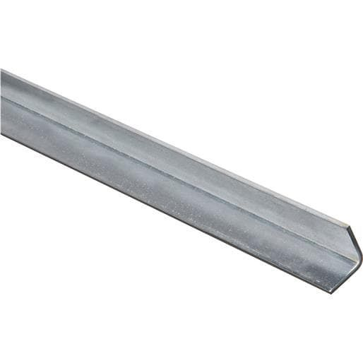 National Mfg. 1X4' Galv Solid Angle N179937 Unit: Each, Silver steel