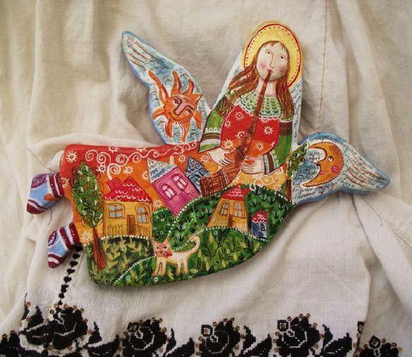 adelaparvu.com despre ingeri pictati, ingeri din lemn, artist Beatrice Iordan (40)