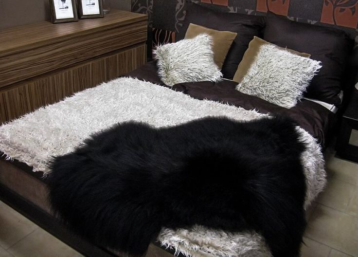 Black sheepskin fur rug, Sheepskin throw, Bedside Sheepskin, Organic throw, Fur accents, Softest Cuddly Fur Lining, Cottage Rug Three Snails by WoolblanketsHandmade on Etsy https://www.etsy.com/listing/250754242/black-sheepskin-fur-rug-sheepskin-throw