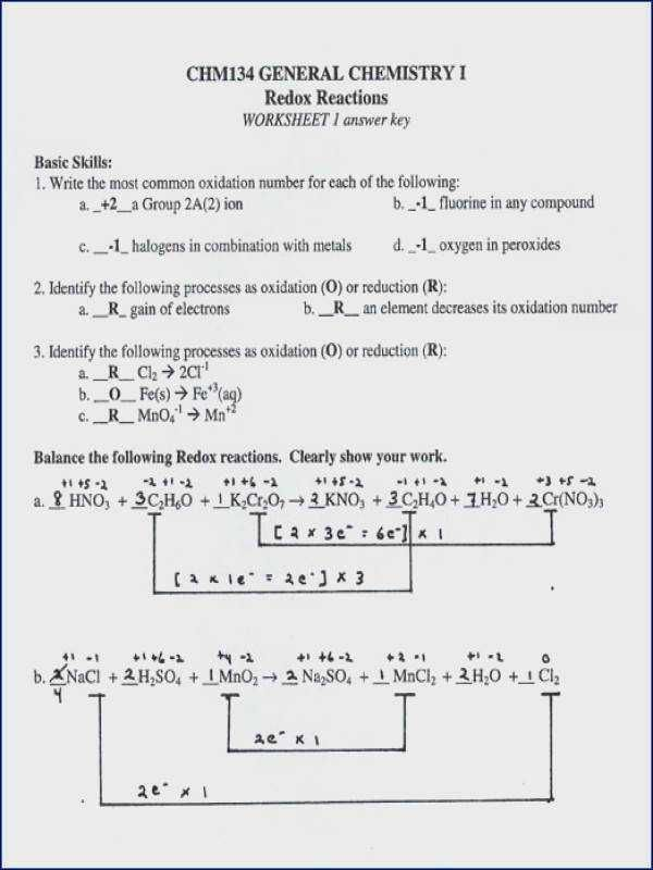 25 Redox Review Worksheet Answers Con Imagenes