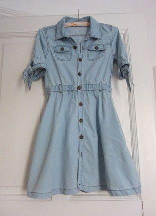 Kaufe meinen Artikel bei #Kleiderkreisel http://www.kleiderkreisel.de/damenmode/jeanskleider/71582676-helles-jeanskleid