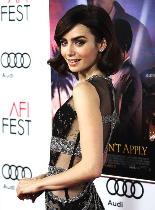 Actress Lily Collins attends the premiere of 'Rules Don't Apply' at AFI Fest 2016, presented by Audi at TCL Chinese Theatre on November 10, 2016 in Hollywood, California.