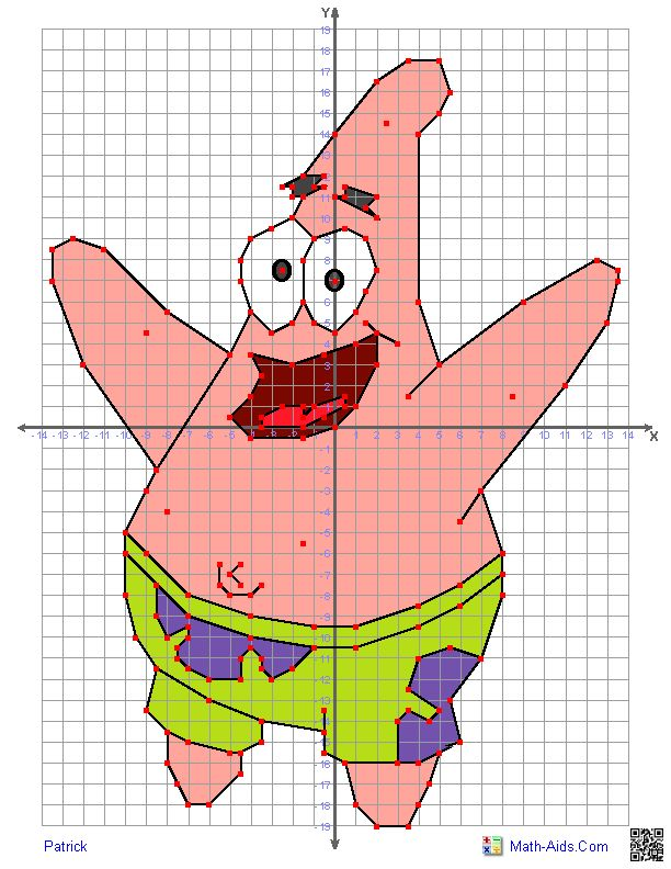 Great worksheets with characters to use for graphing on a coordinate ...