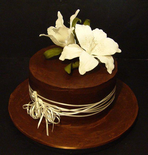 Orange Almond Cake Chocolate Ganache