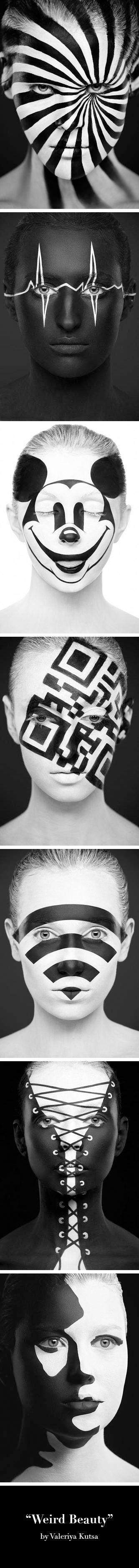 """Weird Beauty"" der russischen Visagistin Valeriya Kutsan. Fotografie von Alexand …   – Alexandre Khoklov"