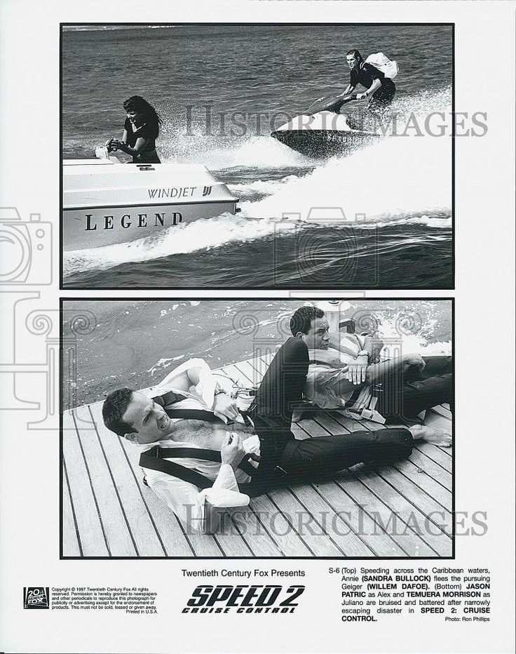 "1997 Press Photo ""Speed 2 Cruise Control""Sandra Bullock Jason Patric"