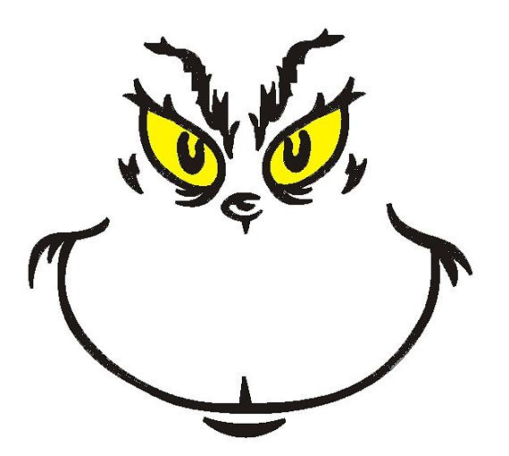 Grinch face embroidery design   Embroidery Design Wish ...