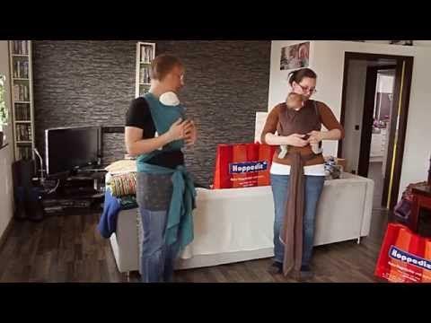 Babyzauber - Tragetuch Bindeanleitung für ein elastisches Tragetuch - YouTube
