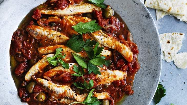 Down Mexico way: Neil Perry's Fish fillets in Veracruz-style sauce is quick to whip up and good for spice lovers too.
