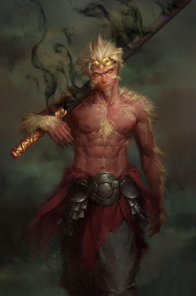 Monkey king, Enforcer 12 on ArtStation at https://www.artstation.com/artwork/monkey-king-85389ede-f602-4a2e-8354-22f6d8d48a99