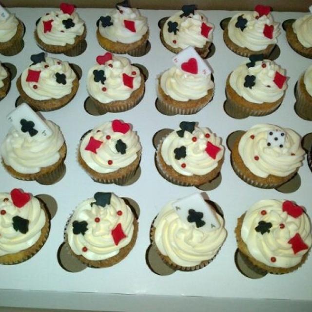 Vegas theme reception cupcakes made by Christine