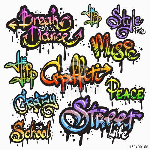 Graffiti word set