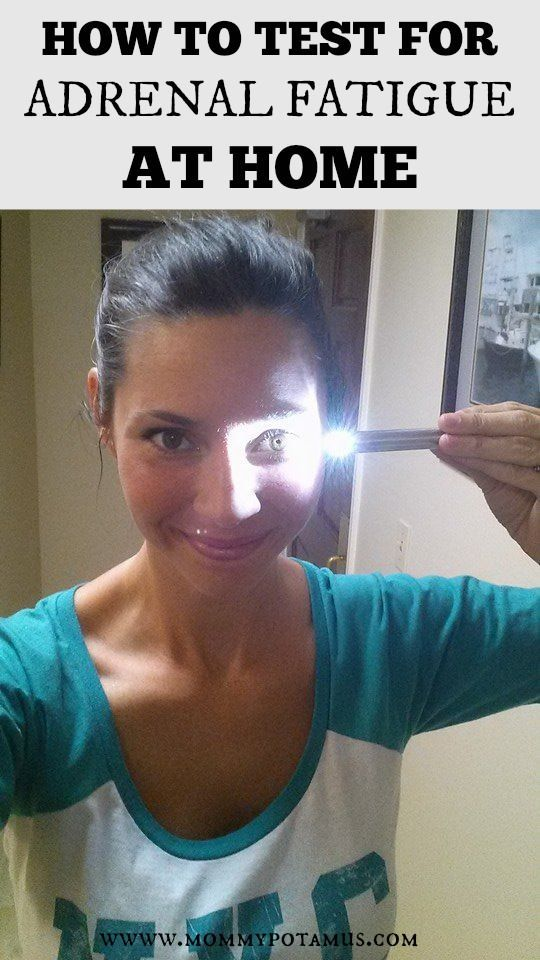 Simple test for adrenal fatigue using a flashlight and a mirror