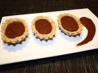 barchette di avena con crema di banana al cioccolato - piatto pronto