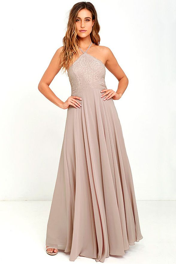 The Everlasting Enchantment Maxi Dress The name truly says it all! Your girls are sure to go crazy for this enchanting full-length gown featuring a crisscross back and lacy halter bodice. So gorgeous! Cost: $84