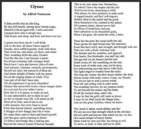 Image result for Ulysses (poem)