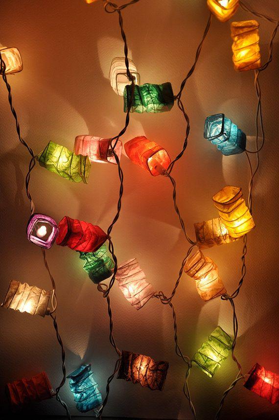 35 Ampoules colorées mûrier papier géométrie printemps lanternes pour la partie & de décoration