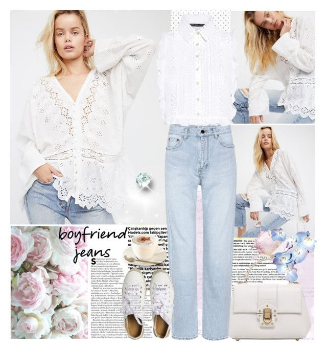 """""""Borrowed from the Boys: Boyfriend Jeans"""" by wutheringheights55 ❤ liked on Polyvore featuring Free People, Dolce&Gabbana, Yves Saint Laurent, Marissa Webb, Matt Bernson and boyfriendjeans"""