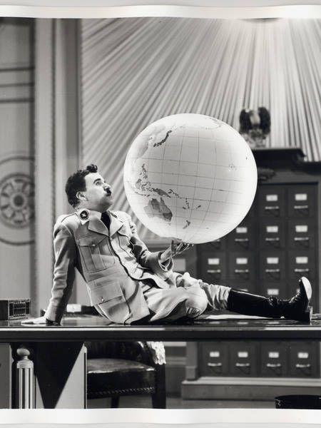 Big great dictator academy print globe scene