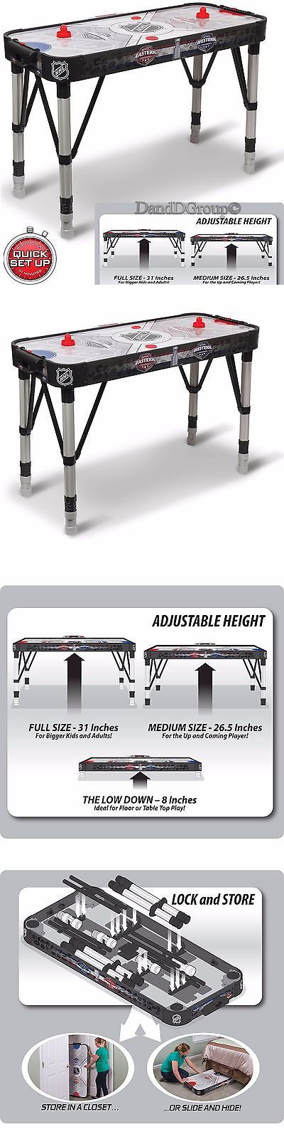 Air Hockey 36275: Air Hockey Table Game Adjust 54 Nhl Automatic Led Scoring Sound Fun Room Indoor BUY IT NOW ONLY: $79.99
