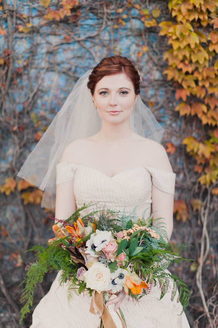 10 Fall Wedding Must-Haves starting with #1 - a #bouquet filled to the gills with autumn-inspired florals. #Fall #Wedding   Photography by mademoisellefiona.com  Read more - http://www.stylemepretty.com/2013/09/26/10-fall-wedding-must-haves/