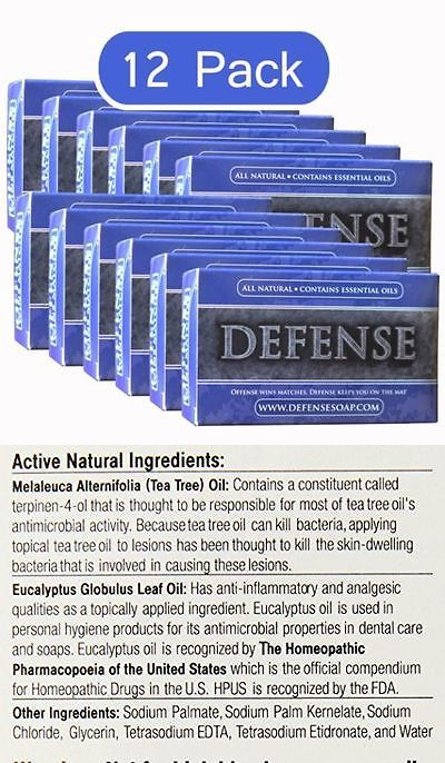 Bar Soaps: 12 Pack Defense Soap Bar 4 Oz, Very Fast Shipping -> BUY IT NOW ONLY: $45.5 on eBay!