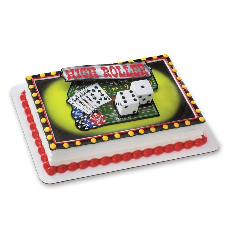 Decopac casino night out decoset cake topper huge price