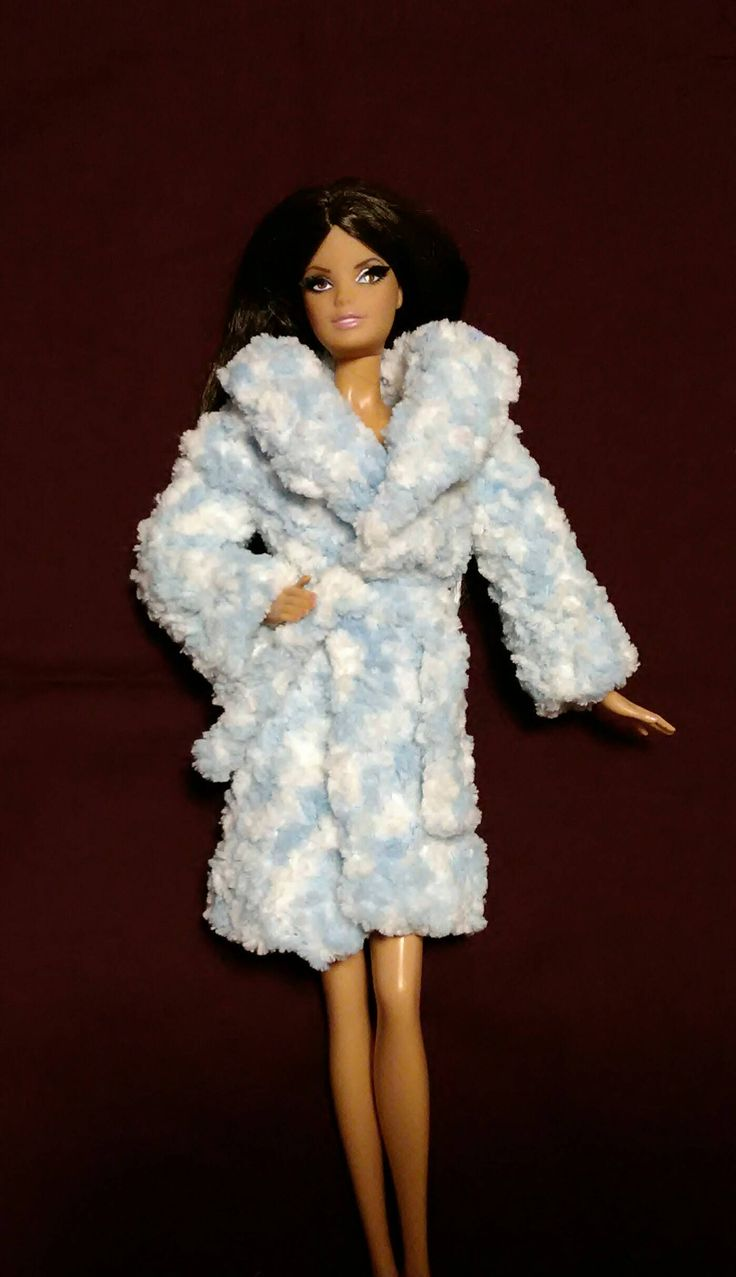 Luxury robe for barbie doll by busyasabeecrafts on Etsy