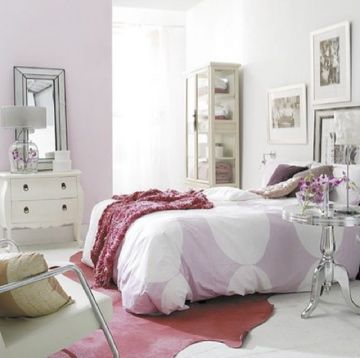 purple girl bedroom