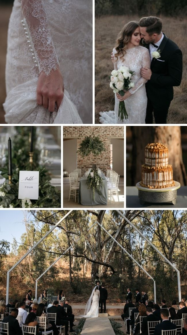 aaccd8e1e02 Industrial Rustic Black Tie Wedding at Lace on Timber by Page   Holmes