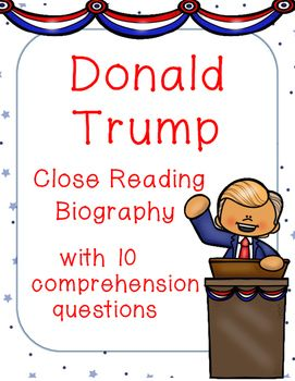 Introduce students to Republican Presidential candidate Donald Trump with this…
