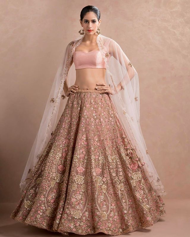 a lehenga from Shyamal & Bhumika SS17 #indiancouture #delicate #intricate #newcollections #floral #occasionwear #southasianweddings #indiatotheworld