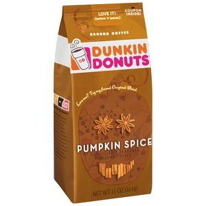 Dunkin' Donuts Pumpkin Spice Ground Coffee... makes even MY mornings worth getting up for! :)))