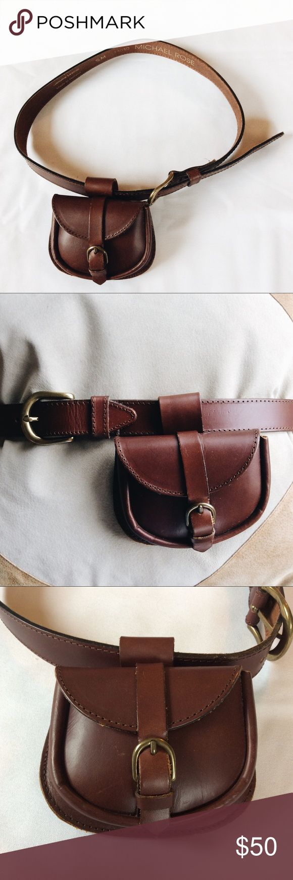 Michael Rose Genuine Leather Belt w/ Pouch Retro and one of a kind! Genuine leather, made in Holland. Size SM. Perfect for a Coachella outfit! Worn a couple times, a few nicks in the leather, but still has a stiff new feel to it. Not Michael Kors, only for exposure. MICHAEL Michael Kors Accessories Belts