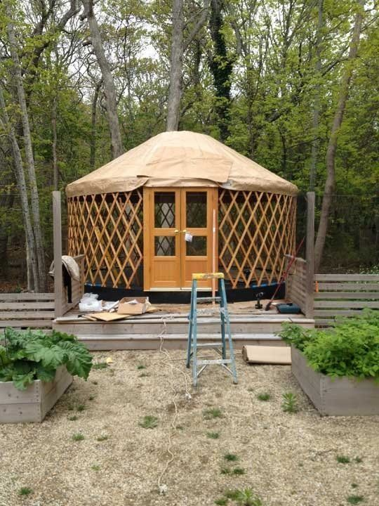 Got a little space in your backyard for an out building? Want to build a little getaway structure outside the city? Then a yurt may be just what you're looking for. These simple structures have been around for a long time and they're gaining new popularity with easy build kits.