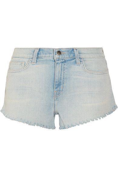 L'Agence - Zoe Frayed Denim Shorts - Blue - 29