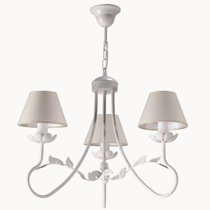 Lampa wisząca FILON 3 w stylu romantycznym dostępna na naszej stronie www.przystojnelampy.pl   #lampa #wisząca #lamp #lamps #lampy #oświetlenie # lampa z abażurem #abażur #styl romantyczny #romantic #romantyczny #white # biała lampa
