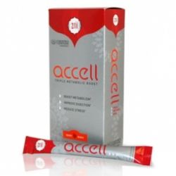 Accell - 20 sticks Support your metabolism and boost energy with easy on the go servings of Accell Key Benefits Sustains Energy Levels Boosts Metabolism Burns Fat Loses Weight Improves 3 Pillars of Metabolism Enhances Digestion Improves Your Body s Response to Stress www.change2HD.com