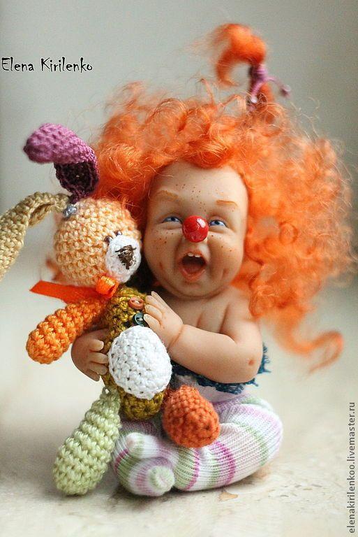 Коллекционные куклы ручной работы. Ярмарка Мастеров - ручная работа. Купить ПодАрок!. Handmade. Рыжий, краски масляные, кружево