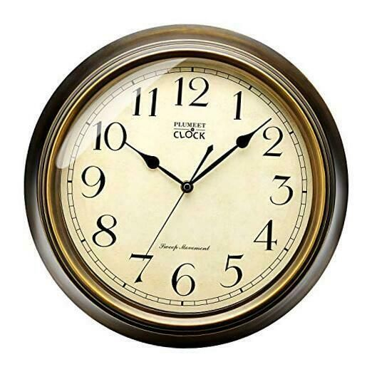 Details About Plumeet Large Retro Wall Clock 13 Non Ticking Classic Silent Clocks Decorati In 2020 Large Retro Wall Clock Clock Retro Wall Clock